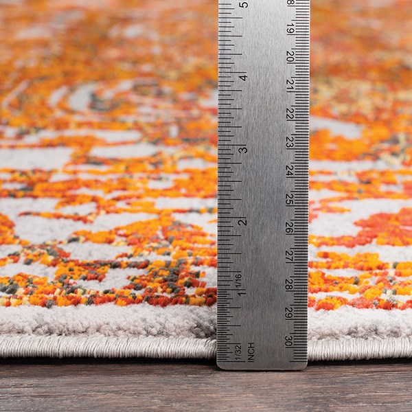 Saffron, Bright Red, Saffron Bohemian Area Rug