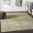 Product Image of Bright Yellow, Grass Green Vintage / Overdyed Area Rug