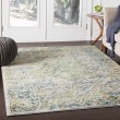 Product Image of Grass Green, Bright Blue Vintage / Overdyed Area Rug