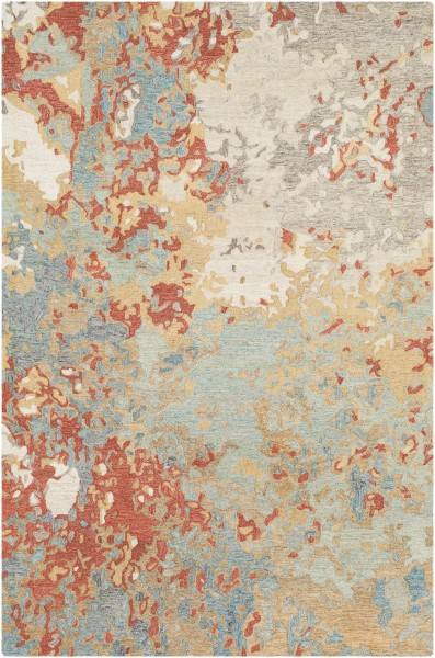 Khaki, Charcoal, Taupe Abstract Area Rug