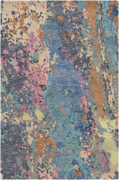 Medium Gray, Denim, Charcoal Abstract Area Rug
