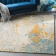 Product Image of Charcoal, Teal, Khaki Abstract Area Rug