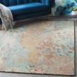 Product Image of Navy, Mint, Camel, Tan Abstract Area Rug
