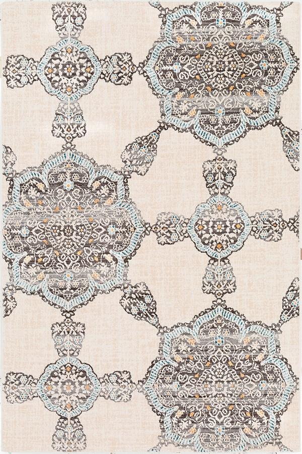 Charcoal, Charcoal, Light Gray Mandala Area Rug