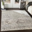Product Image of Pale Blue, Medium Gray Contemporary / Modern Area Rug