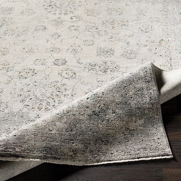 Medium Gray, Medium Gray Vintage / Overdyed Area Rug