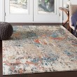 Product Image of Teal, Aqua, Beige Abstract Area Rug