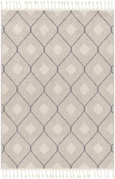 Taupe, Cream, Light Gray Contemporary / Modern Area Rug