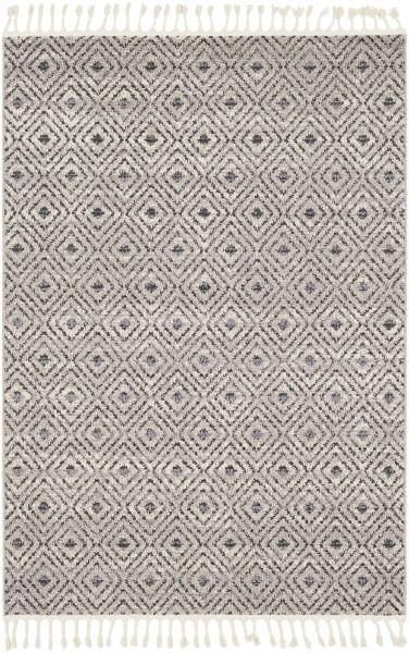 Charcoal, Medium Gray Contemporary / Modern Area Rug