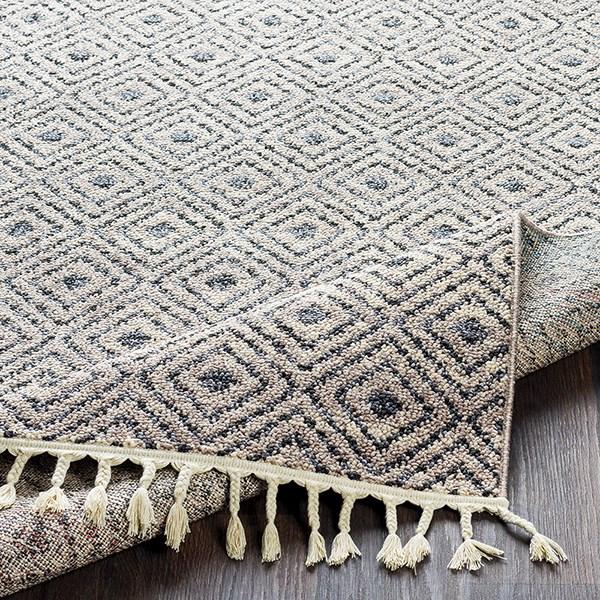 Charcoal, Medium Gray Moroccan Area Rug