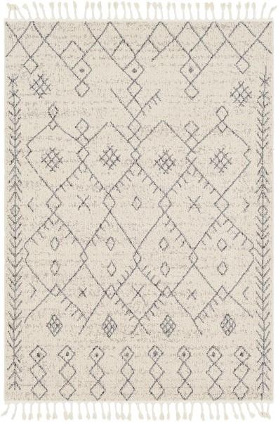 Cream, Taupe Moroccan Area Rug