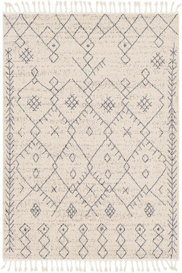 Cream, Taupe Southwestern / Lodge Area Rug