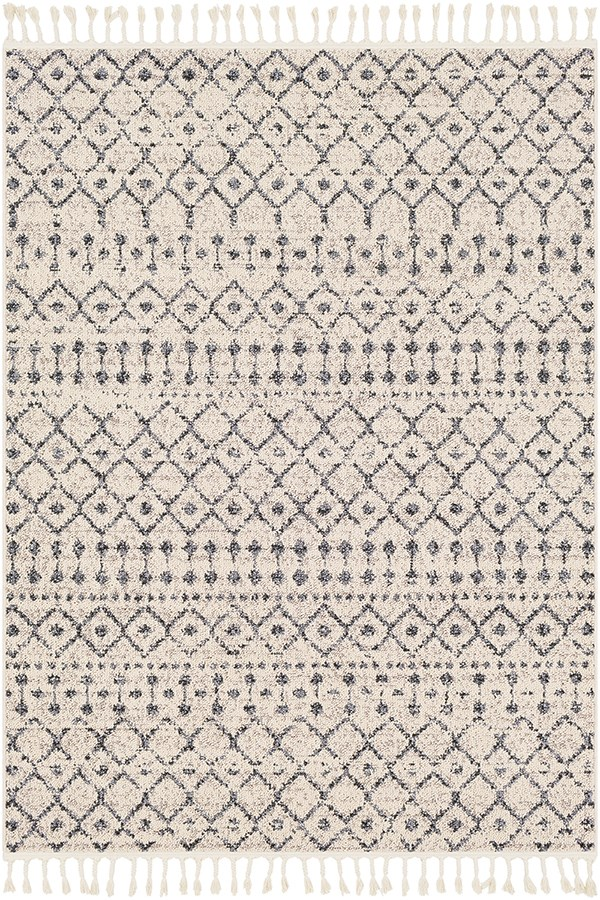 Light Gray, Medium Gray Moroccan Area Rug