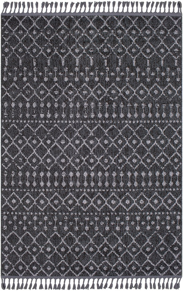Charcoal, Medium Gray Moroccan Area Rug