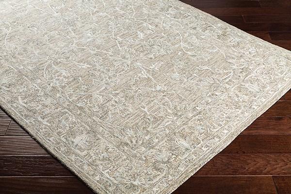 Cream, Medium Gray, Tan Traditional / Oriental Area Rug