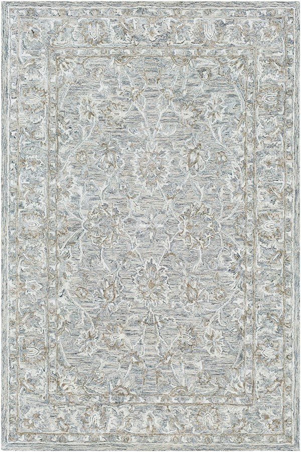 Denim, Sage, Sea Foam Traditional / Oriental Area Rug