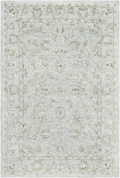 Emerald, Light Gray, Dark Brown Traditional / Oriental Area Rug