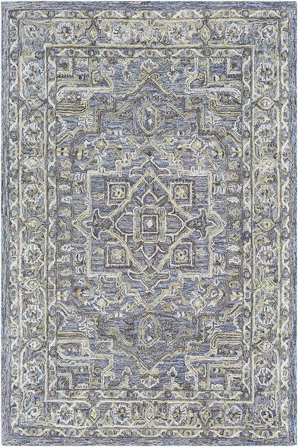 Violet, Khaki, Sage Traditional / Oriental Area Rug