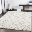 Product Image of White, Khaki, Taupe Shag Area Rug