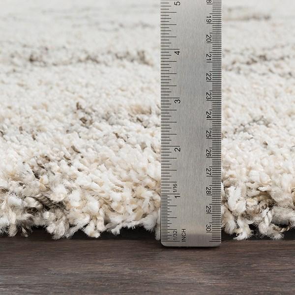 White, Khaki, Taupe Shag Area Rug