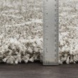 Product Image of Taupe, Dark Brown, White Shag Area Rug