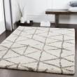 Product Image of Taupe, Khaki, White Shag Area Rug