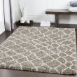 Product Image of Taupe, Dark Brown, Khaki Shag Area Rug