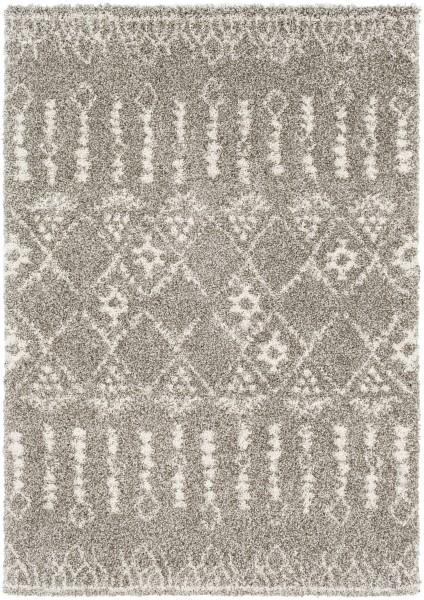 Dark Brown, Taupe, Khaki Moroccan Area Rug