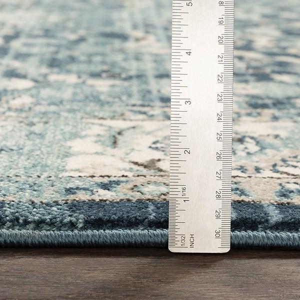 Navy, Medium Gray, Teal, Denim (MEP-2306) Traditional / Oriental Area Rug