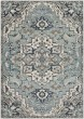 Product Image of Traditional / Oriental Medium Gray, Teal, Denim (MEP-2311) Area Rug