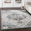 Product Image of Medium Gray, Teal, Navy, Denim (MEP-2312) Traditional / Oriental Area Rug