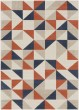 Product Image of Geometric Coral, Charcoal, Beige, Khaki (CIT-2314) Area Rug