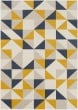 Product Image of Geometric Mustard, Charcoal, Beige, Khaki (CIT-2316) Area Rug