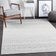 Product Image of Light Gray, Medium Gray, White (ELZ-2308) Moroccan Area Rug