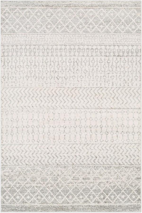 Light Gray, Medium Gray, White (ELZ-2308) Moroccan Area Rug