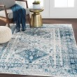 Product Image of Sky Blue, Light Gray, White (FGA-2313) Traditional / Oriental Area Rug