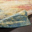 Product Image of Teal, Navy, Light Gray, Camel (LAL-2307) Abstract Area Rug