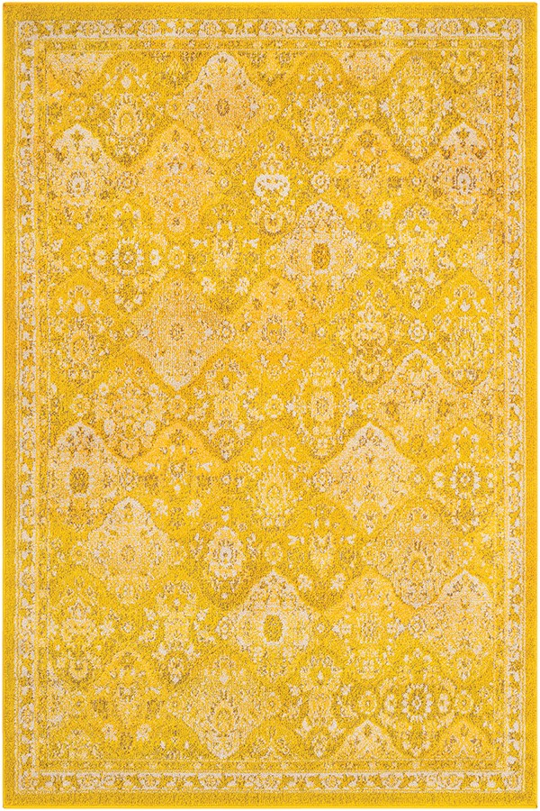 Saffron, Bright Yellow, Camel, (MRC-2319) Traditional / Oriental Area Rug