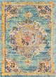 Product Image of Mandala Teal, Navy, Pale Blue, Bright Orange (LAL-2320) Area Rug
