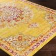 Product Image of Saffron, Bright Yellow, Bright Orange (LAL-2325) Mandala Area Rug