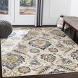 Product Image of Charcoal, Navy, Sky Blue (AHN-2306) Traditional / Oriental Area Rug