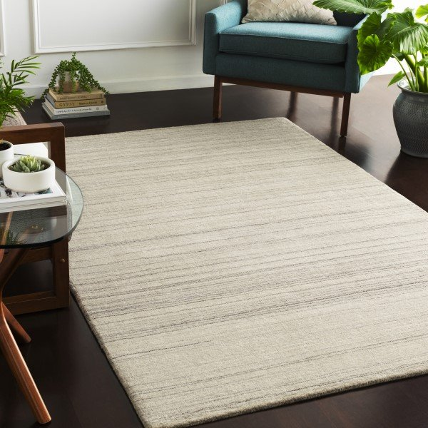Light Grey, Cream, Black (AYT-1005) Contemporary / Modern Area Rug