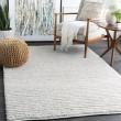 Product Image of White, Dark Brown (TDA-1000) Casual Area Rug
