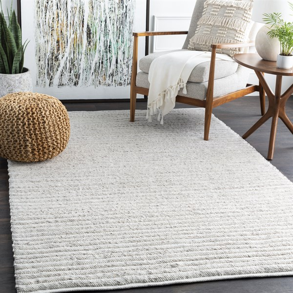 White, Dark Brown (TDA-1000) Casual Area Rug