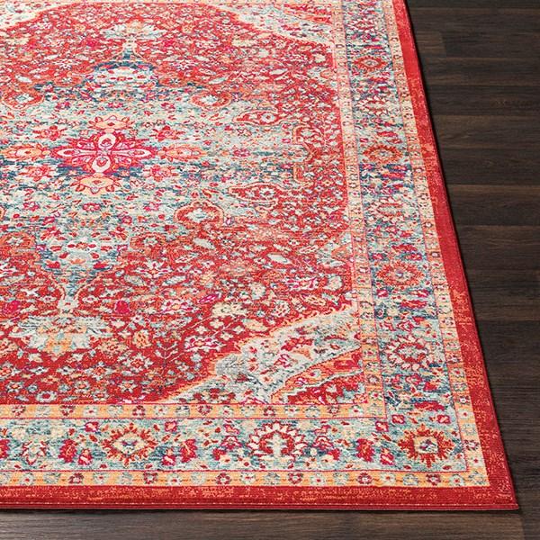 Bright Red, Saffron, Wheat (BOM-2307) Bohemian Area Rug