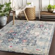 Product Image of Navy, Teal, Bright Pink (BOM-2305) Vintage / Overdyed Area Rug