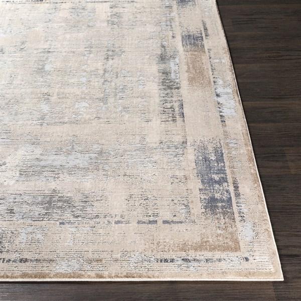 Ivory, Charcoal, Camel Rustic / Farmhouse Area Rug
