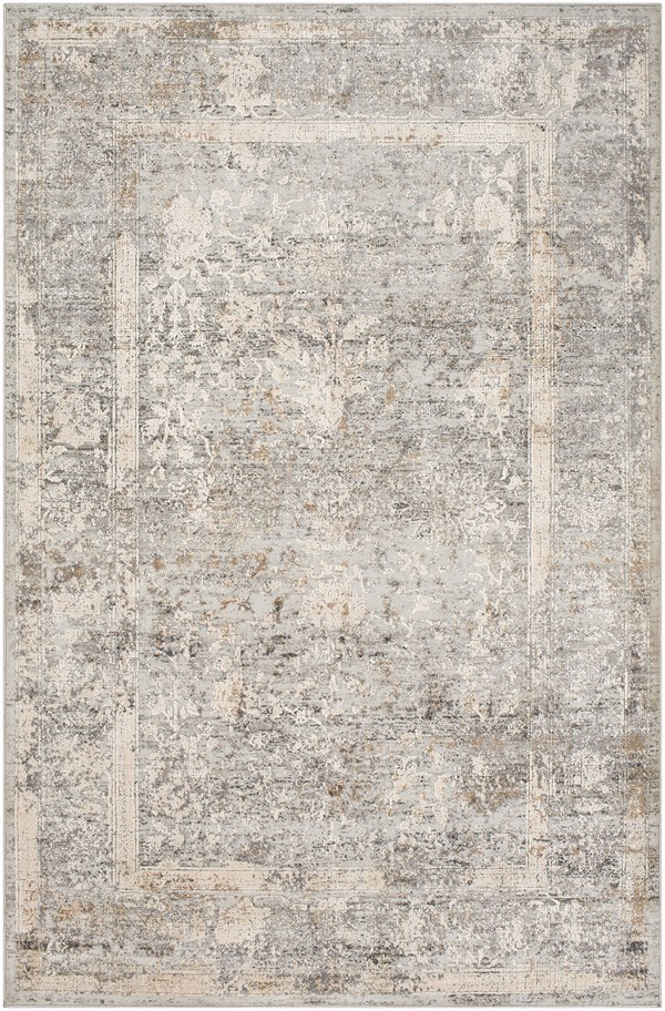 Grey, Ivory, Camel Abstract Area Rug