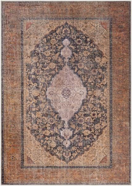 Clay, Denim, Beige Traditional / Oriental Area Rug