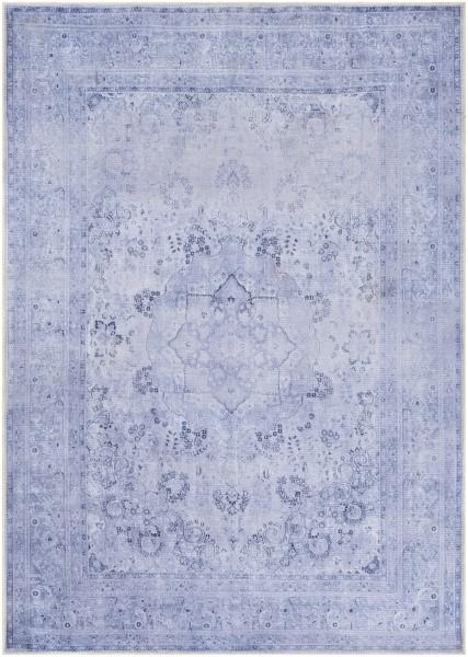 Lavender, Dark Blue, Denim Bohemian Area Rug